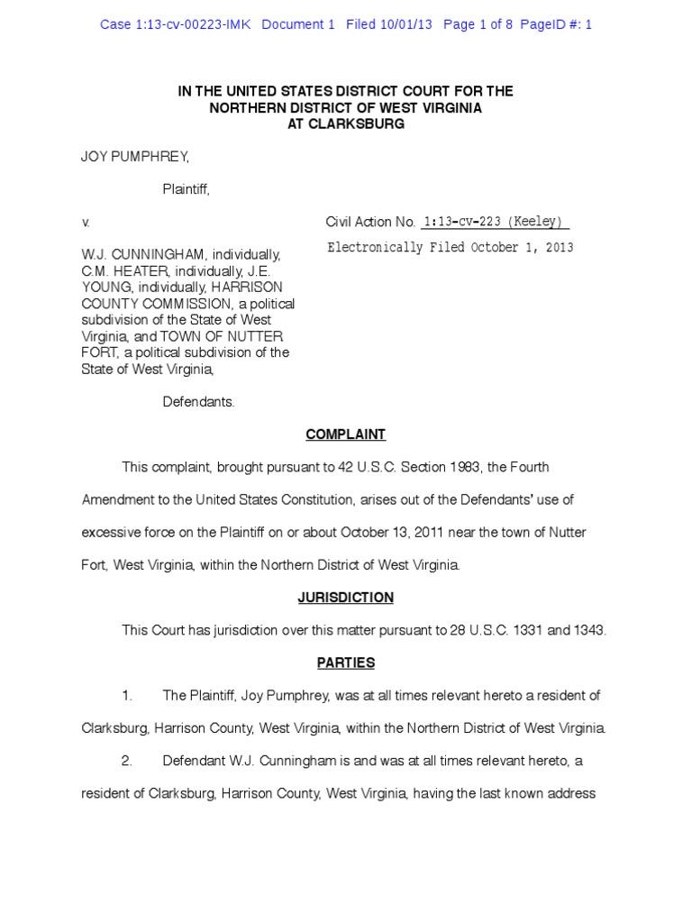 Pumphrey v  Harrison County Commission, et al  | Damages