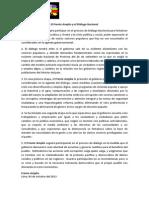 Pronunciamiento Dialogo 6oct13