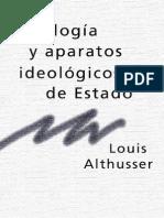 ALTHUSSER, Louis. Ideología y aparatos ideológicos de Estado