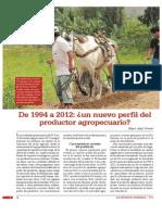 De 1994 a 2012 Un Nuevo Perfil Del Productor Agropecuario