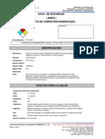 Msds-sulfato de Cobre Pentahidratado