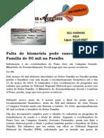 Falta de biometria pode cancelar o Bolsa Família de 50 mil na Paraíba