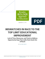 MISMATCHES IN RACE TO THE TOP LIMIT EDUCATIONAL IMPROVEMENT