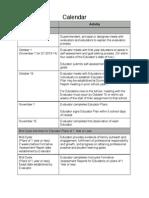 Educator Evaluation Calendar