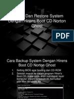 Backup Dan Restore System Dengan Hirens Boot CD
