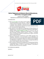 Reglamento Unitizacion Bolivia