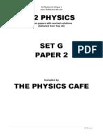 H2 Physics Exam Set G P2