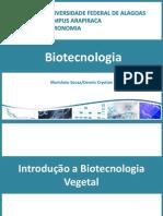 Aula 1. Introdução a Biotecnologia vegetal