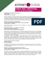 Programa Del Festival Ellas Crean Cuba