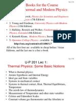Lec 1 - Temperature and Heat