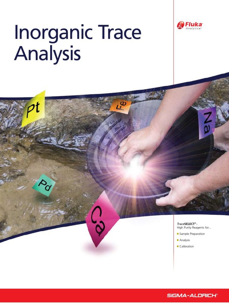 Inorganic Trace Analysis Nitric Acid Atomic Absorption Spectroscopy