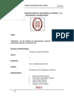TRABAJO GRUPAL  DE INVESTIGACIÓN CIENTÍFICA