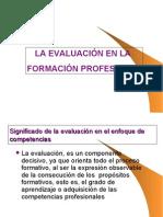 La Evaluación en la Formación Profesional