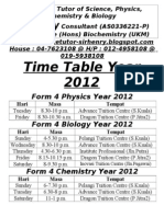 Time Table Sir Henry2012n