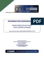 Information Memorandum Equipment List