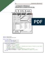 Insertar Registros a Una BD SQL Desde Visual Basic