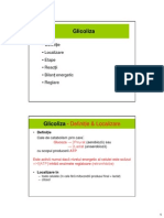 Glicoliza. Gluconeogeneza