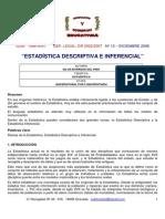Documento Estadistica Descriptiva e Inferencial