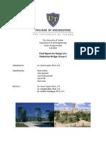 Final Report - Design of a Pedestrian Bridge - Fall 2009