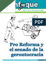 Enfoque 2  2009 Pro Reforma y El Senado