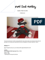 Sock Monkey - Free Amigurumi Pattern