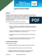 Programa Construir Empleo
