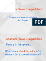 Abs Value Inequalities 2