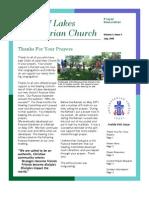 Prayer Newsletter July 2009