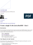 Create a simple To Do List in DooPHP – Part 1 « Learn DooPHP