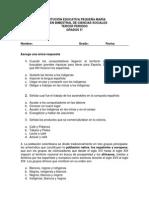 Examen Bimestral de Ciencias Sociales