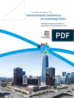 International Conference Learning Cities Flyer
