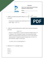 Lista Log Exponencial Sistemas e Escalonamento