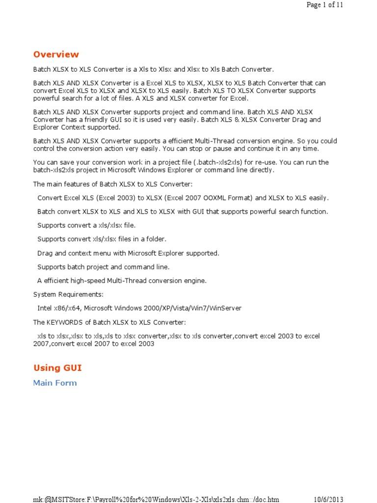 Cmd Xlstools | Microsoft Excel | License