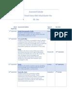 assessment calendar year 9 social science q1