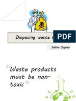 Disposing Waste Fluids