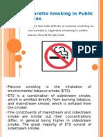 Cigarette Smoking in Public Places presentation