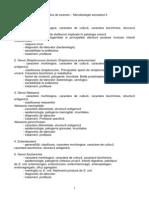 Tematica Examen Microbiologie s2