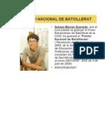 Premio Nacional Bachillerato
