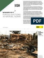 FORCED EVICTIONS IN NAIROBI, KENYA
