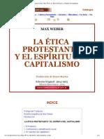 Max Weber_ Le Ética Protestante y el Espíritu del Capitalismo
