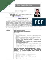 c.v Tirsa Chantal Castillo Zavaleta