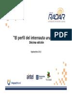 RADAR Perfil Internauta Uruguayo 2013 Seleccion TIC