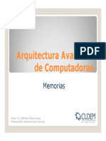 Arquitectura Avanzada de Computadoras(Memorias)