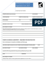 Rltp Institute & Audition Prep Registration Form 2014