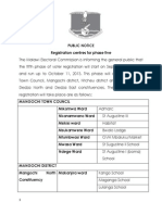 Registration Centres Phase 5