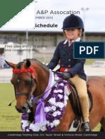 Equestrian Schedule 2013