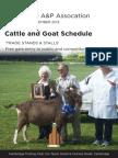 Cattle & Goat Schedule 2013