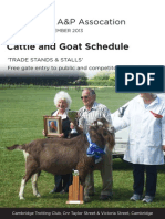 Cattle & Goat Schedule 2013