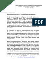 A Socidade Brasileira e Aos Habitantes Do Planeta