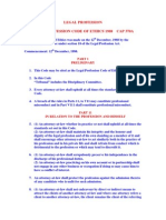 Legal Profession Code of Ethics